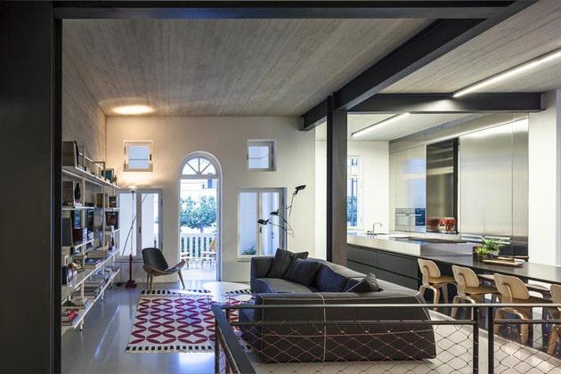 d coration d 39 un appartement avec des couleurs sombres. Black Bedroom Furniture Sets. Home Design Ideas