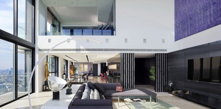 Interieur penthouse design for Design architecture interieur