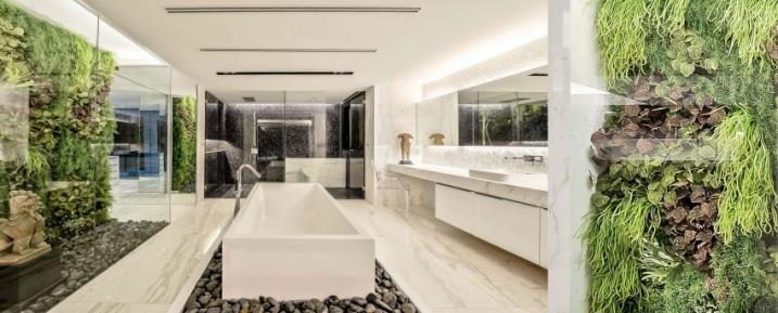 mur v g tal salle de bain. Black Bedroom Furniture Sets. Home Design Ideas