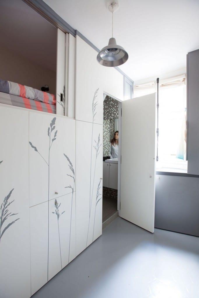 am nager une chambre de bonne de 8 m tres carr s. Black Bedroom Furniture Sets. Home Design Ideas