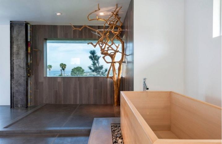 Baignoire japonaise bois - Salle de bain japonais ...