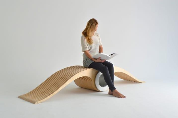 Chaise design bois modulable