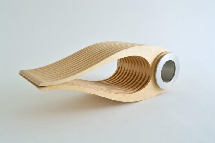 Chaise minimaliste bois clair