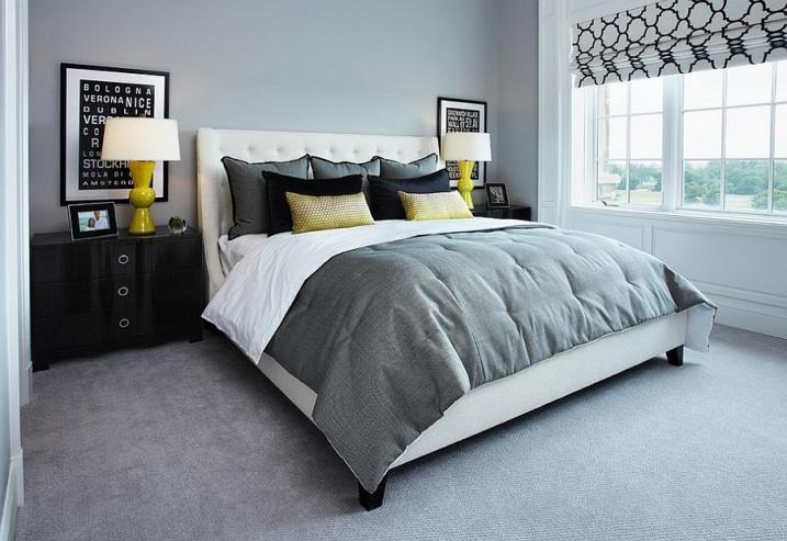 Id es d co pour une chambre jaune et grise for Chambre design 2015