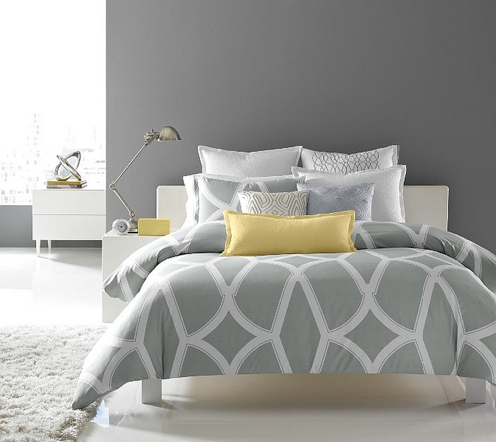 Idées Déco pour une chambre jaune et grise