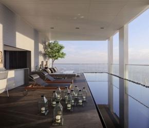 Piscine sur terrasse penthouse