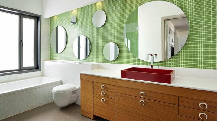 idées décoration pour une salle de bain verte - Photo Salle De Bain Mosaique