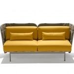Canape exterieur design jaune