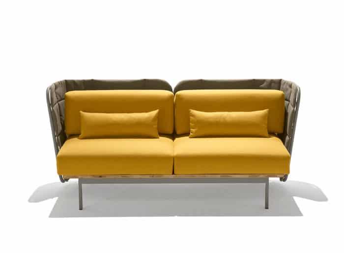 Canap d 39 exterieur design jaune for Canape d exterieur