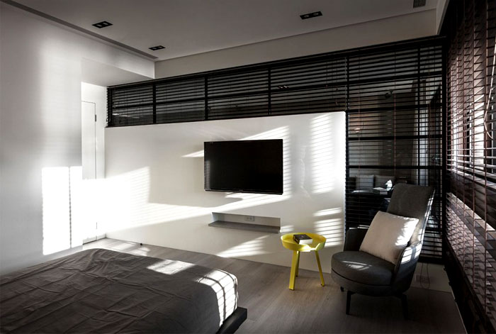 d corer un appartement avec des meubles noirs. Black Bedroom Furniture Sets. Home Design Ideas