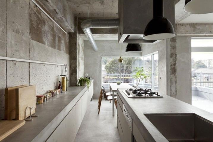Cuisine Japonaise beton brut