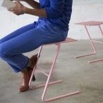 Tabouret design rose