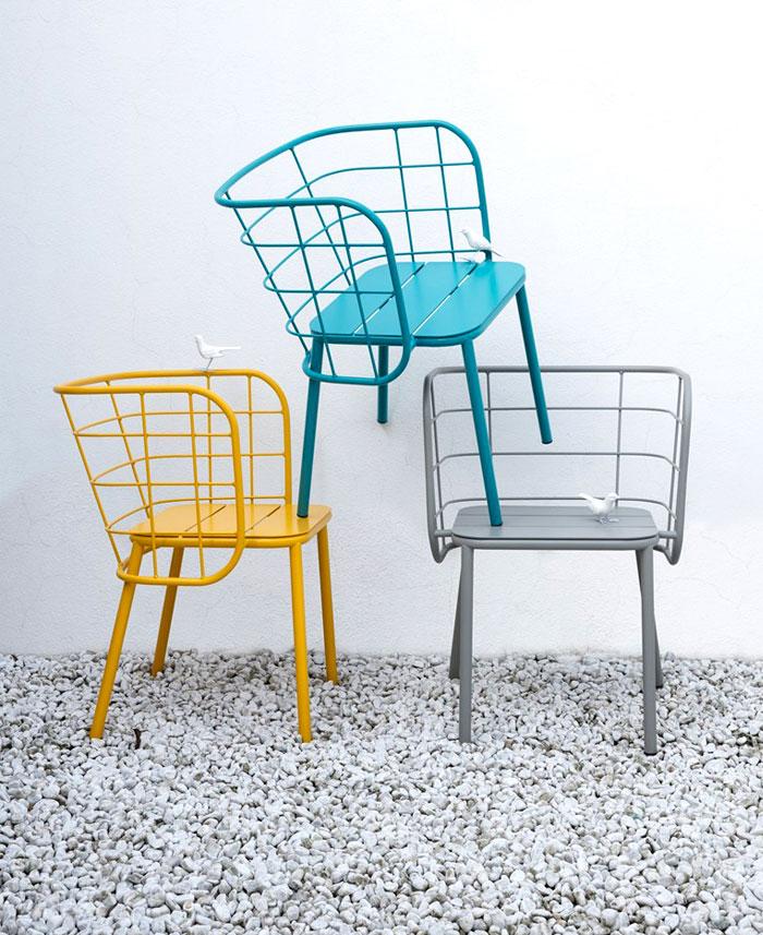 chaises metalliques design Jujube