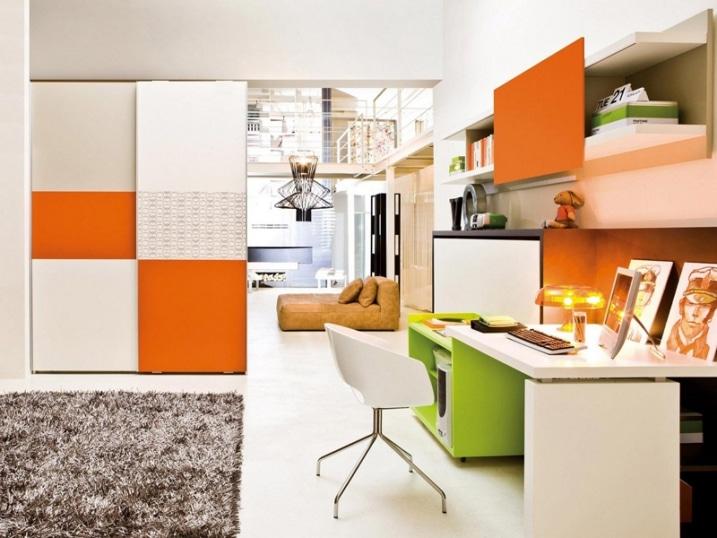 Decoration chambre orange et vert for Decoration chambre orange et vert