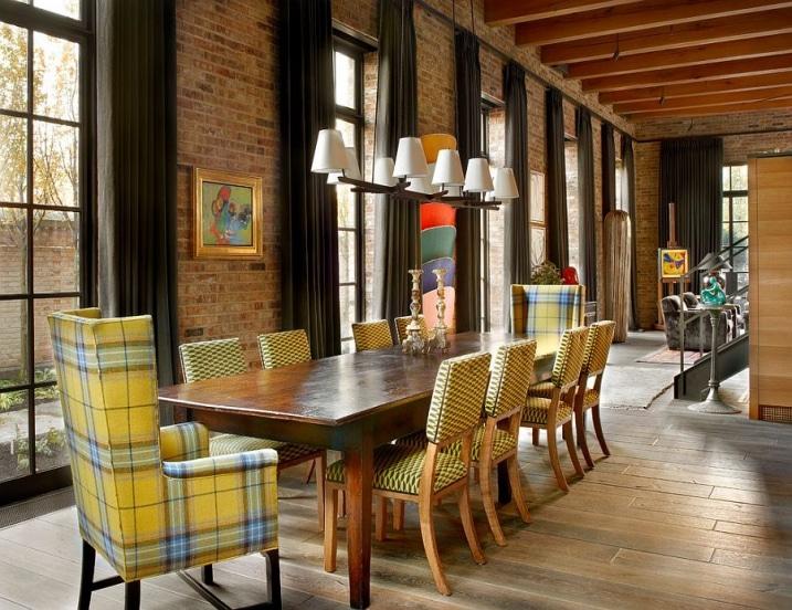 d coration salon briques rouges. Black Bedroom Furniture Sets. Home Design Ideas