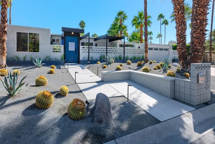 cr er un jardin avec des cactus et des palmiers. Black Bedroom Furniture Sets. Home Design Ideas