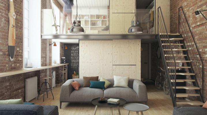 Petit appartement avec une décoration minimaliste industrielle