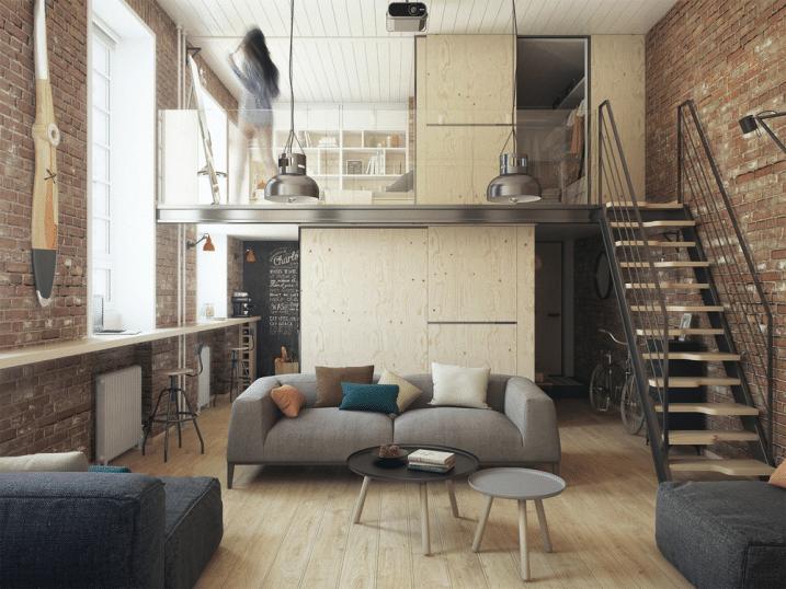 Petit appartement avec mezzanine