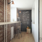Tableau décoratif noir pour loft