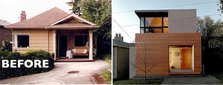 transformation maison banlieu maison cube. Black Bedroom Furniture Sets. Home Design Ideas