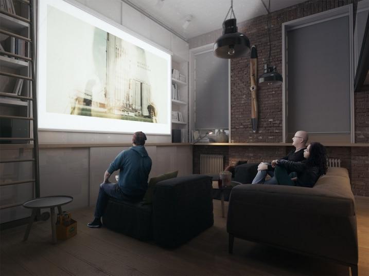 Videoprojecteur dans un loft