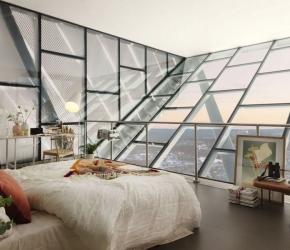 Appartement en verre et en angle