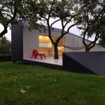 Fauteuil rouge design pour terrasse