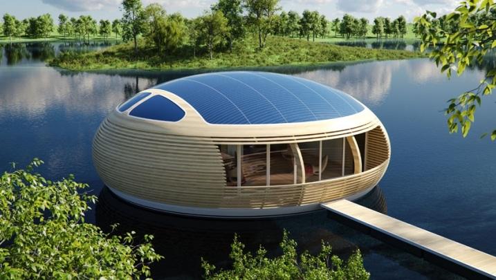 maison avec panneau solaire sur le toit. Black Bedroom Furniture Sets. Home Design Ideas