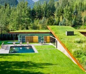 Maison avec toit terrasse photos plans inspirations for Maison avec toit vegetal