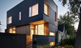 Maison contemporaine noir