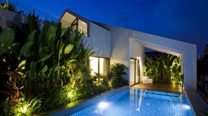 Maison Avec Piscine Sur Une Terrasse Situee A L Etage