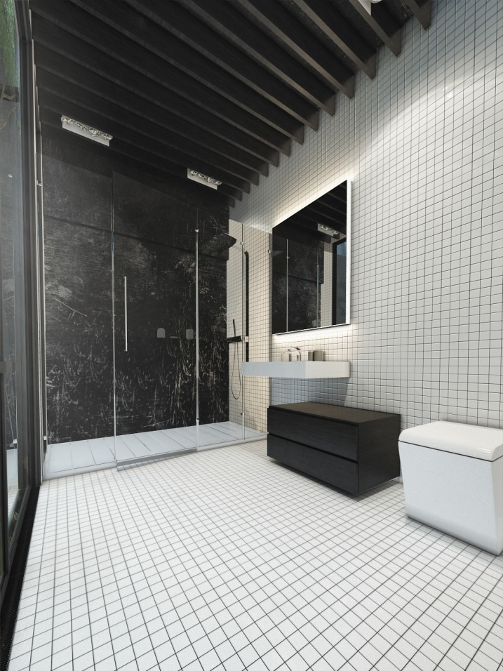 salle de bain avec carrelage mosaique blanc. Black Bedroom Furniture Sets. Home Design Ideas