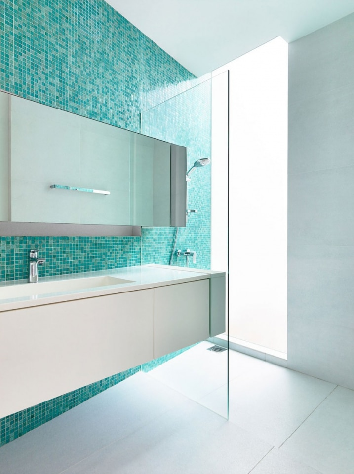 salle de bain mosaique turquoise. Black Bedroom Furniture Sets. Home Design Ideas