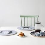 Set de table ronds scandinave