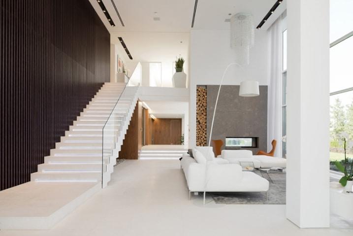 escalier design blanc. Black Bedroom Furniture Sets. Home Design Ideas