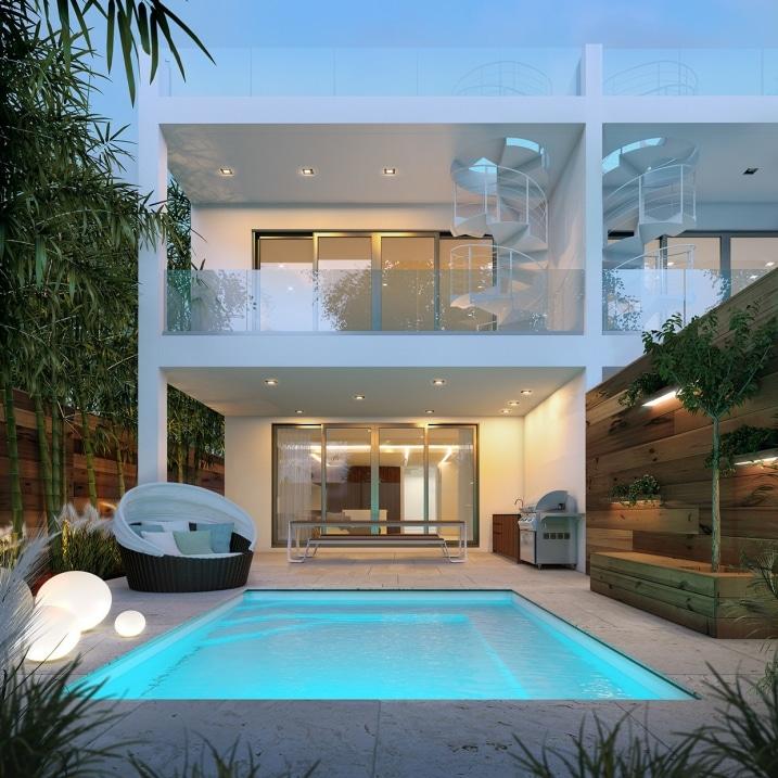 Maison de luxe avec piscine for Plan de maison de luxe avec piscine