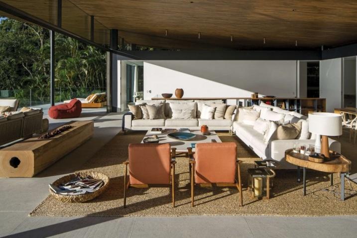 Salon ouvert sur l 39 ext rieur for Salon ouvert sur jardin
