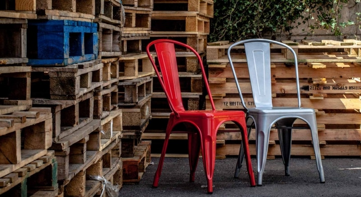 Chaises Tolix pour terrasse