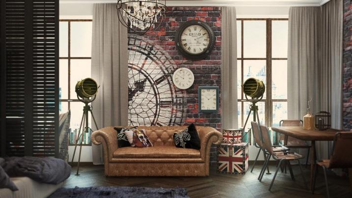 aménagement appartement vintage