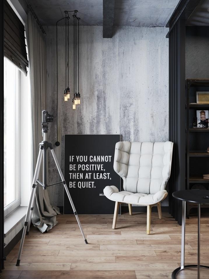 murs en b ton brut dans un appartement. Black Bedroom Furniture Sets. Home Design Ideas