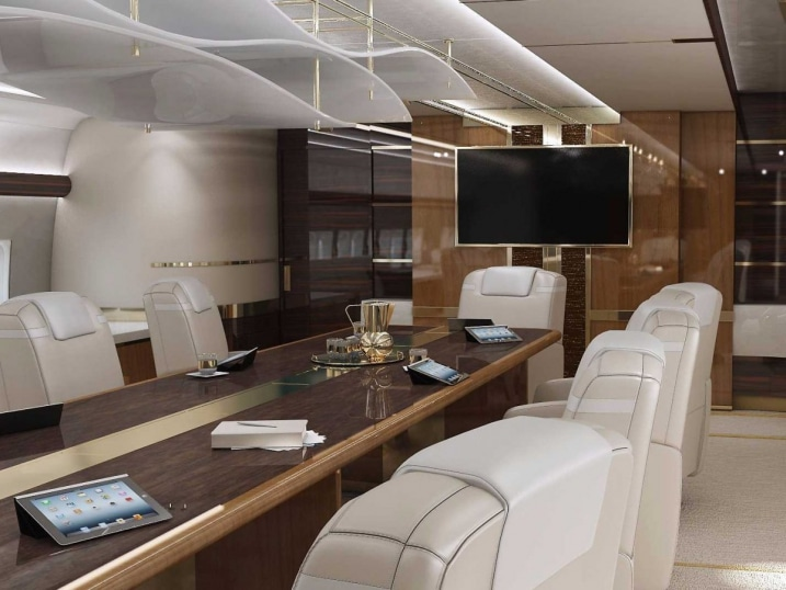 salle de r union boeing 747 8. Black Bedroom Furniture Sets. Home Design Ideas