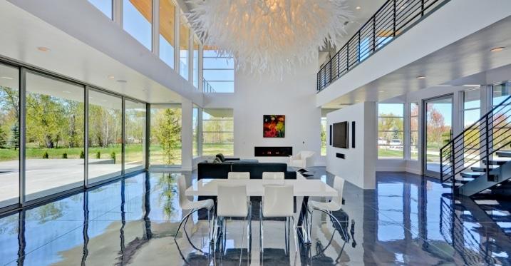 sol en b ton effet miroir. Black Bedroom Furniture Sets. Home Design Ideas