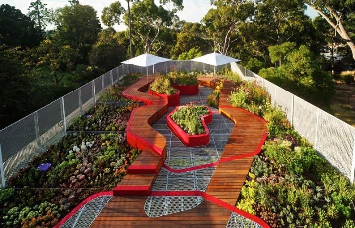 Faire un jardin sur un toit