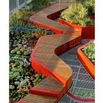 Jardin design sur toit