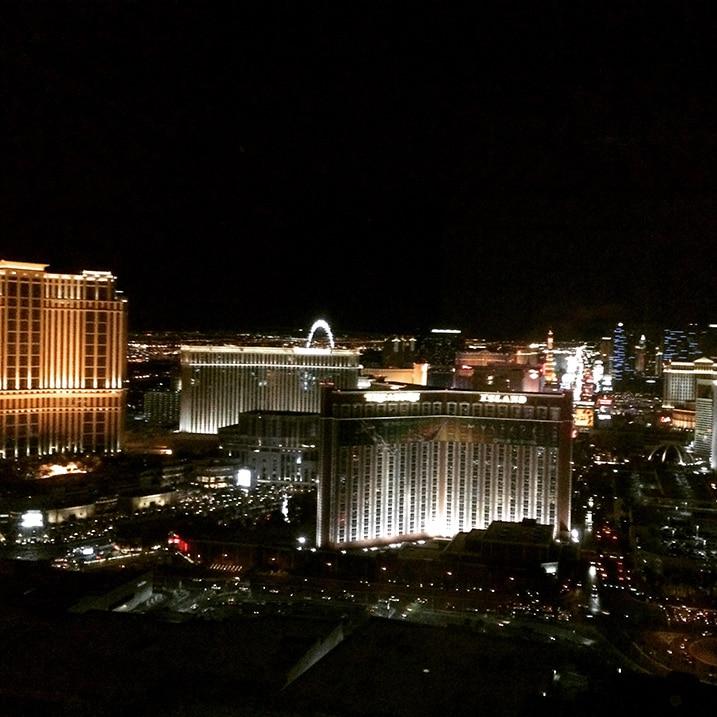 Vue sur Strip Trump Las Vegas