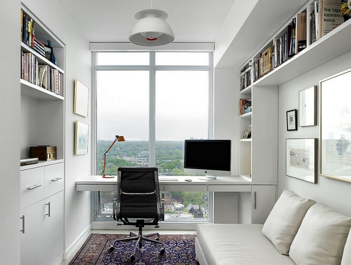 bureau dans chambre scandinave. Black Bedroom Furniture Sets. Home Design Ideas