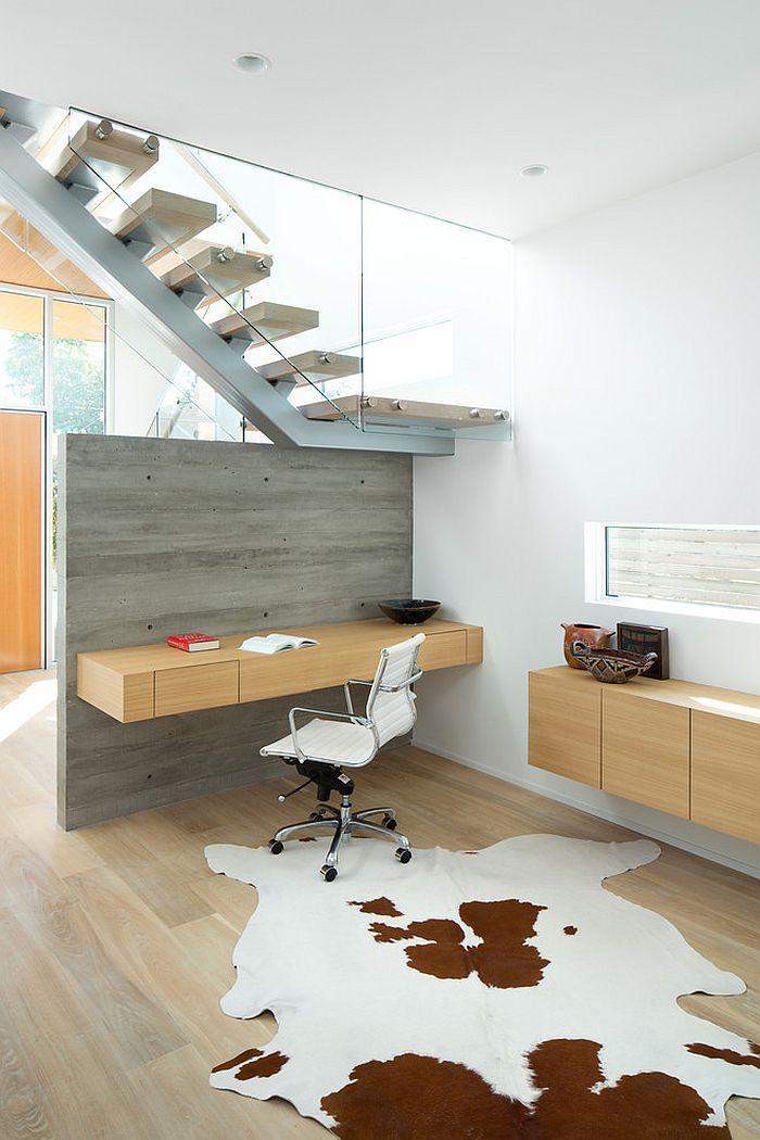 bureau suspendu en bois. Black Bedroom Furniture Sets. Home Design Ideas