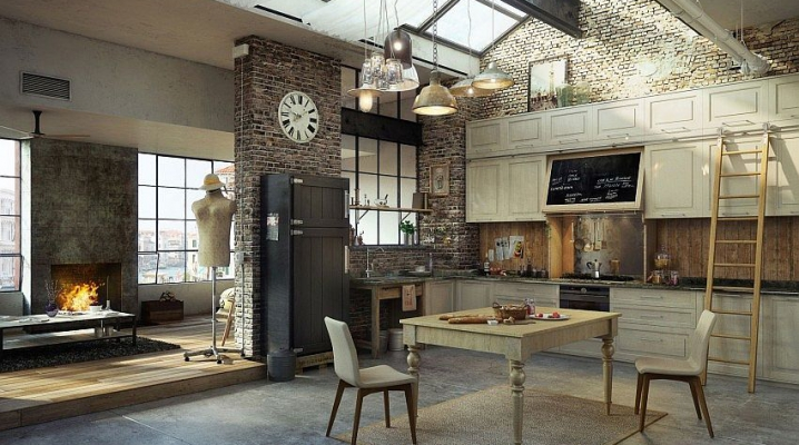 30 exemples de d coration de cuisines au style industriel for Deco industrielle