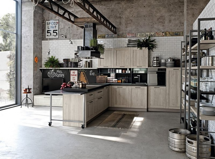 30 exemples de d coration de cuisines au style industriel for Casa piano cotizacion