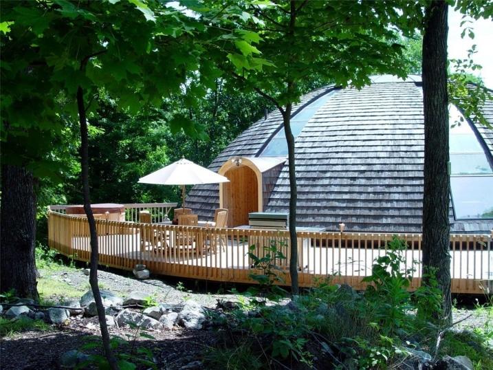 Maison circulaire en bois